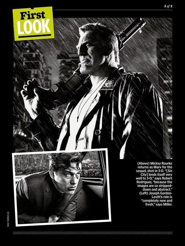 Mickey Rourke es Marv en Sin City 2: A Dame to kill for