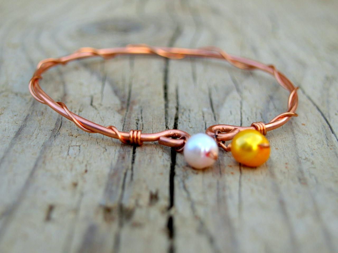 Shalotte: Copper Wire Work Bangles