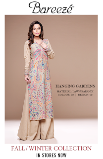 Bareeze Fall Winter Embroidery dresses 2013-2014