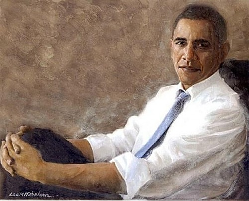 art now and then president barack obama portraits On obama portrait painting