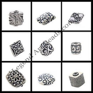 Indian Sterling Silver Crafetd Beads 2013