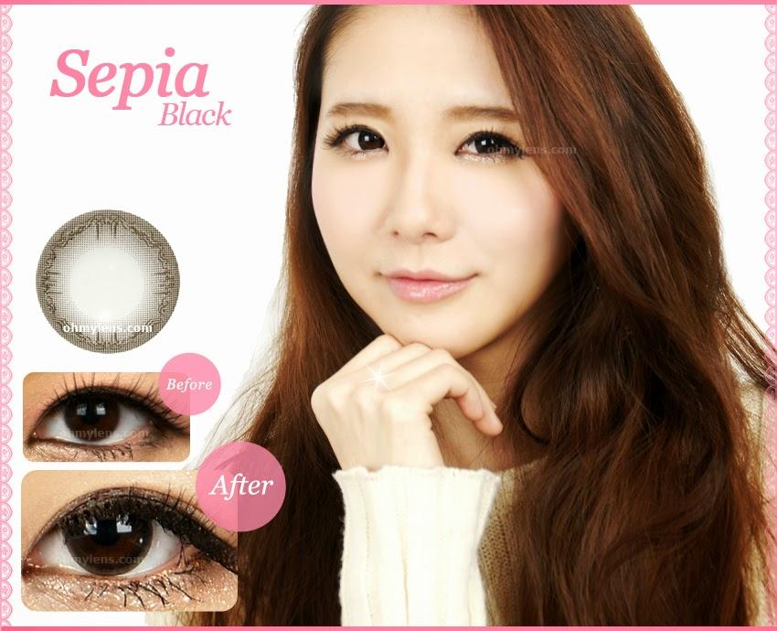 Sepia Black Contact Lenses at ohmylens.com