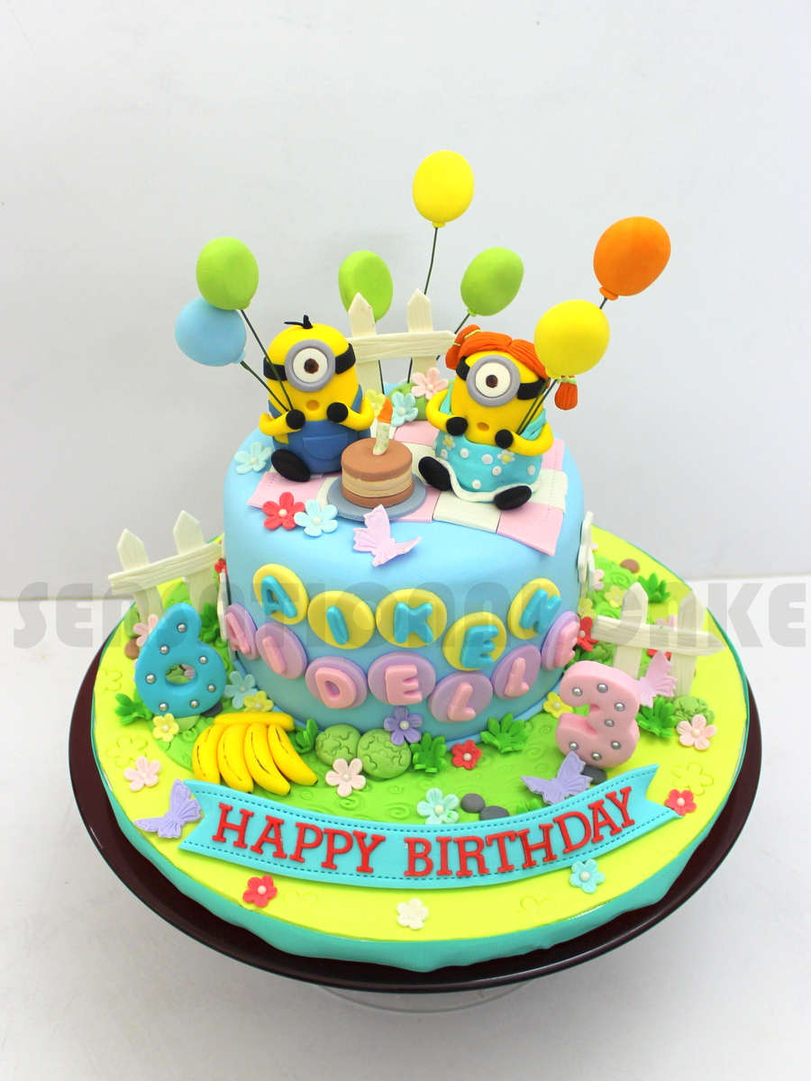 The Sensational Cakes MINIONS SUGARCRAFT BIRTHDAY CAKE COUPLE