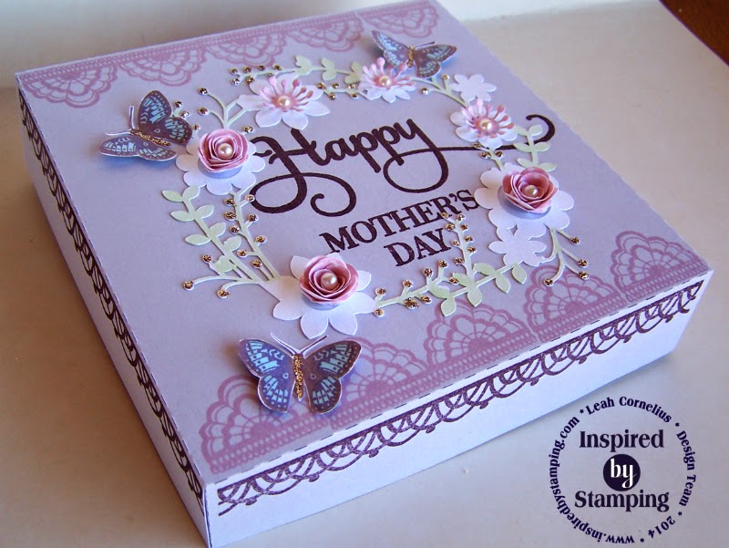 Inspired by Stamping, Leah Cornelius, Happy Sentiments, Delicate Doilies II, Butterfly Wings, Mother's Day Project, 3D project