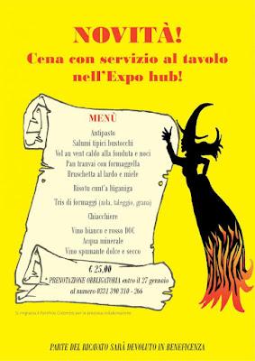 La Giöbia invita i bustocchi a gustare il risotto con la luganiga 28 Gennaio Busto Arsizio
