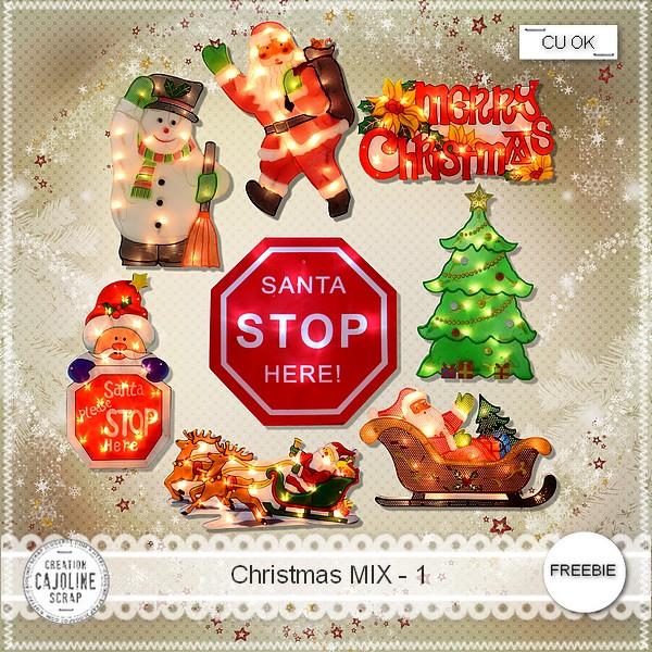 Scrapbook freebie Christmas MIX-1 from cajoline scrap