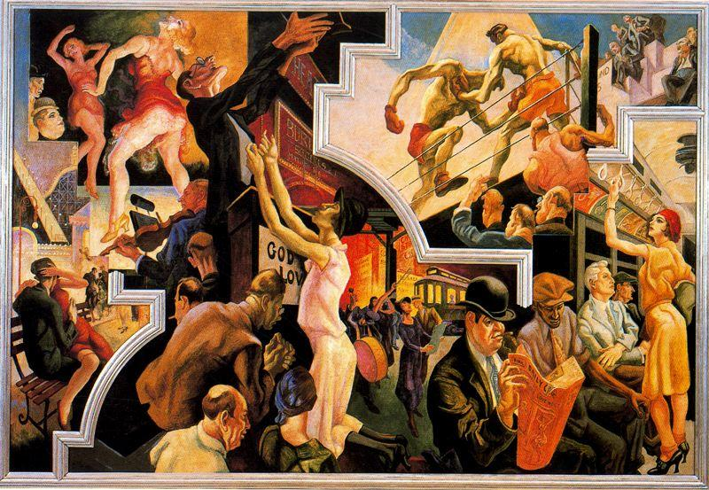 Art artists thomas hart benton part 1 for America today mural