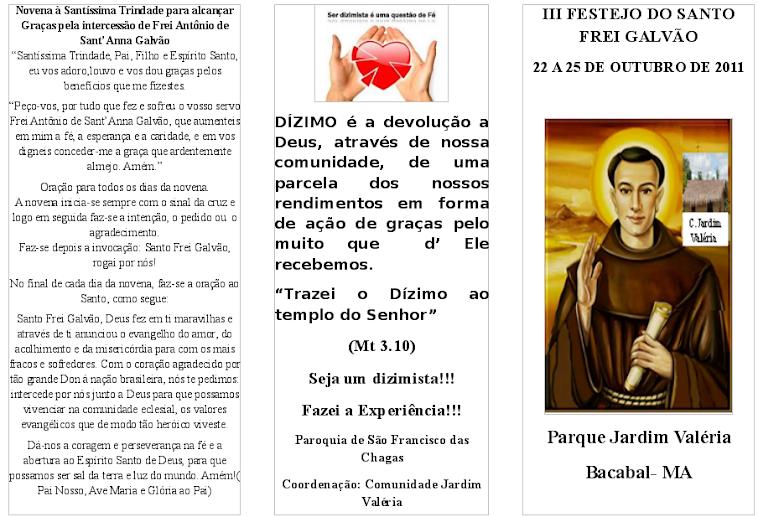 Festejo do Santo Frei Galvão