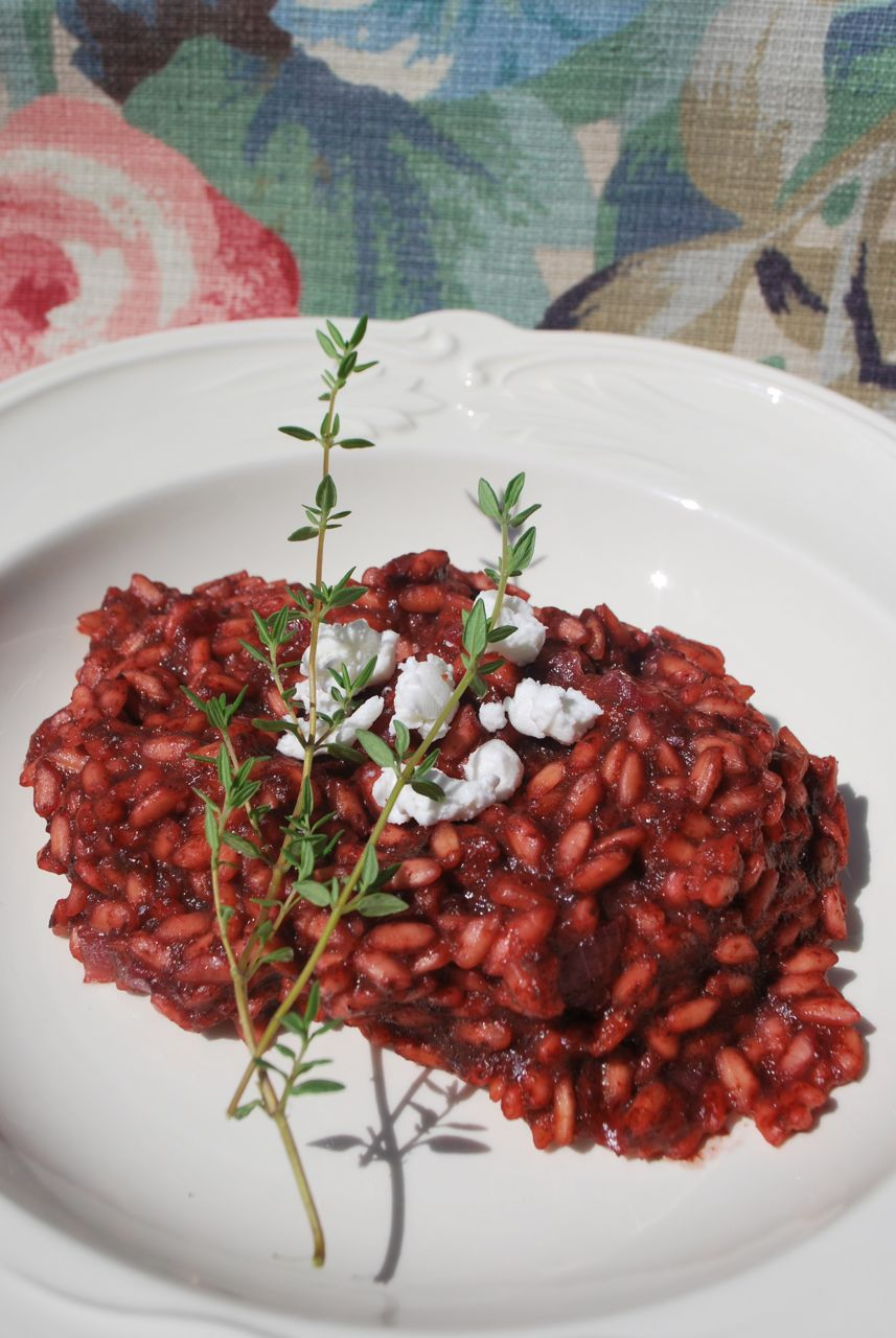 Scrumpdillyicious: Roasted Beet Risotto with Goat Cheese ...