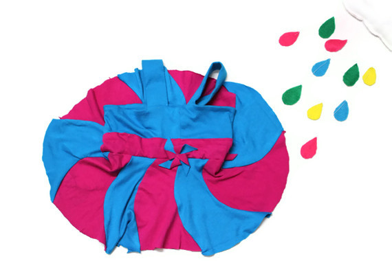 colorblocked pinwheel jumper