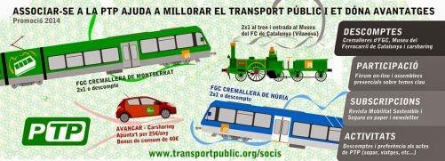 Associar-se a la PTP ajuda a millorar el transport públic i et dóna avantatges