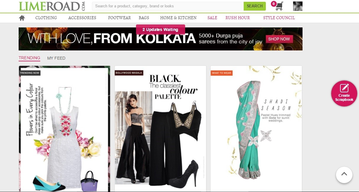 How to create scrapbook on limeroad - However Limeroad Com Has Made Its Mark Quite Firmly Through Their Lovely Collections Of Ethnic Wear Specially Their Variety Of