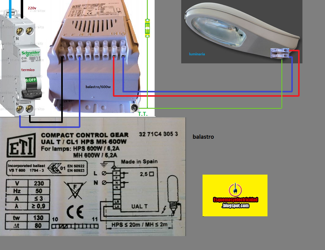 balastro compact control gear