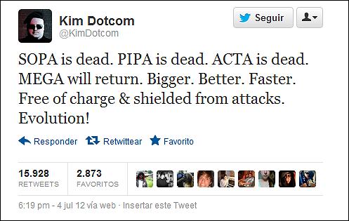 RUMOR: posible vuelta de Megaupload anunciada por su propietario, Kit Dotcom