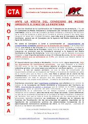 NOTA DE PRENSA: ANTE LA VISITA DEL CONSEJERO DE MEDIO AMBIENTE A JEREZ DE LA FRONTERA