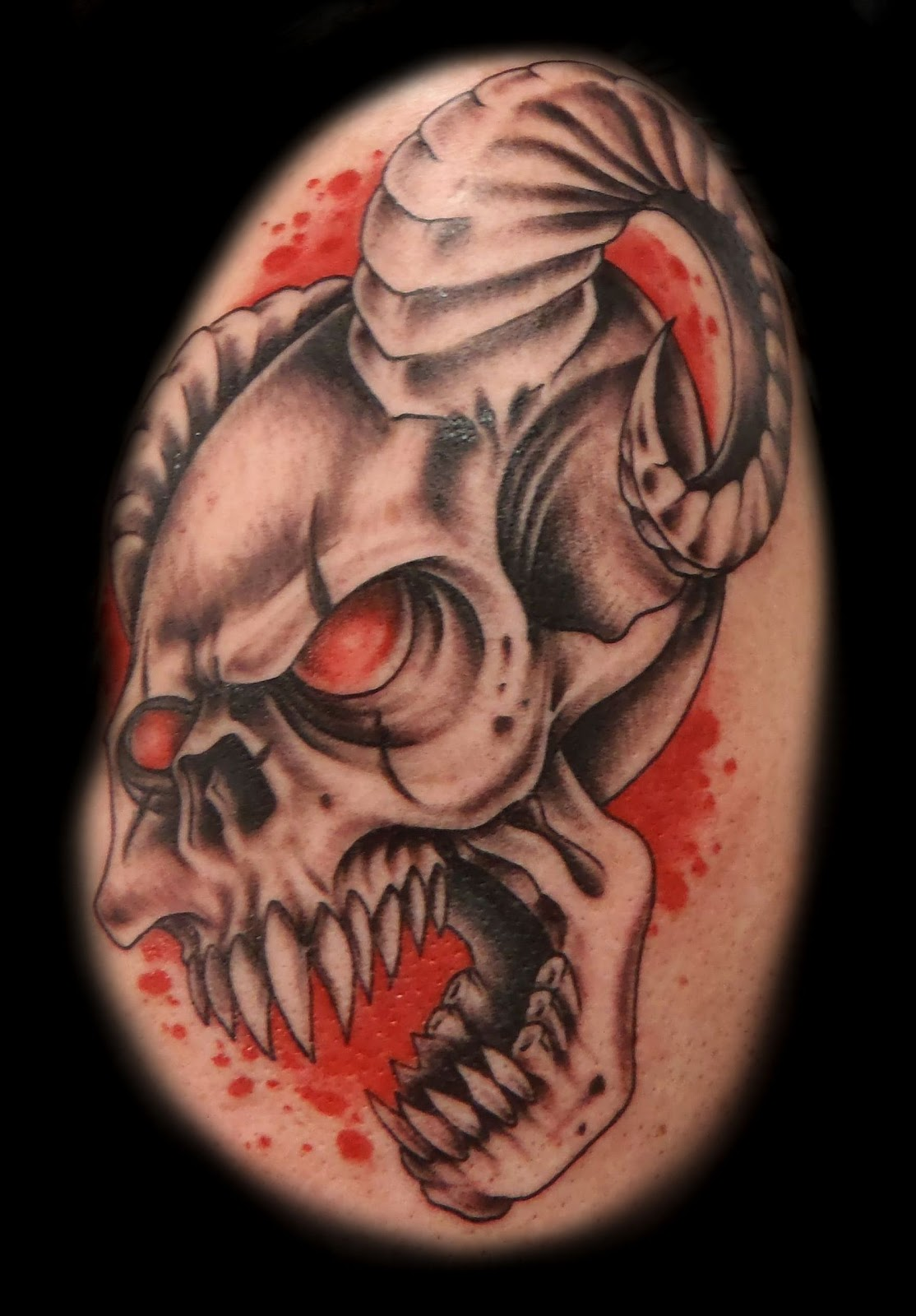 samurai demon tattoo