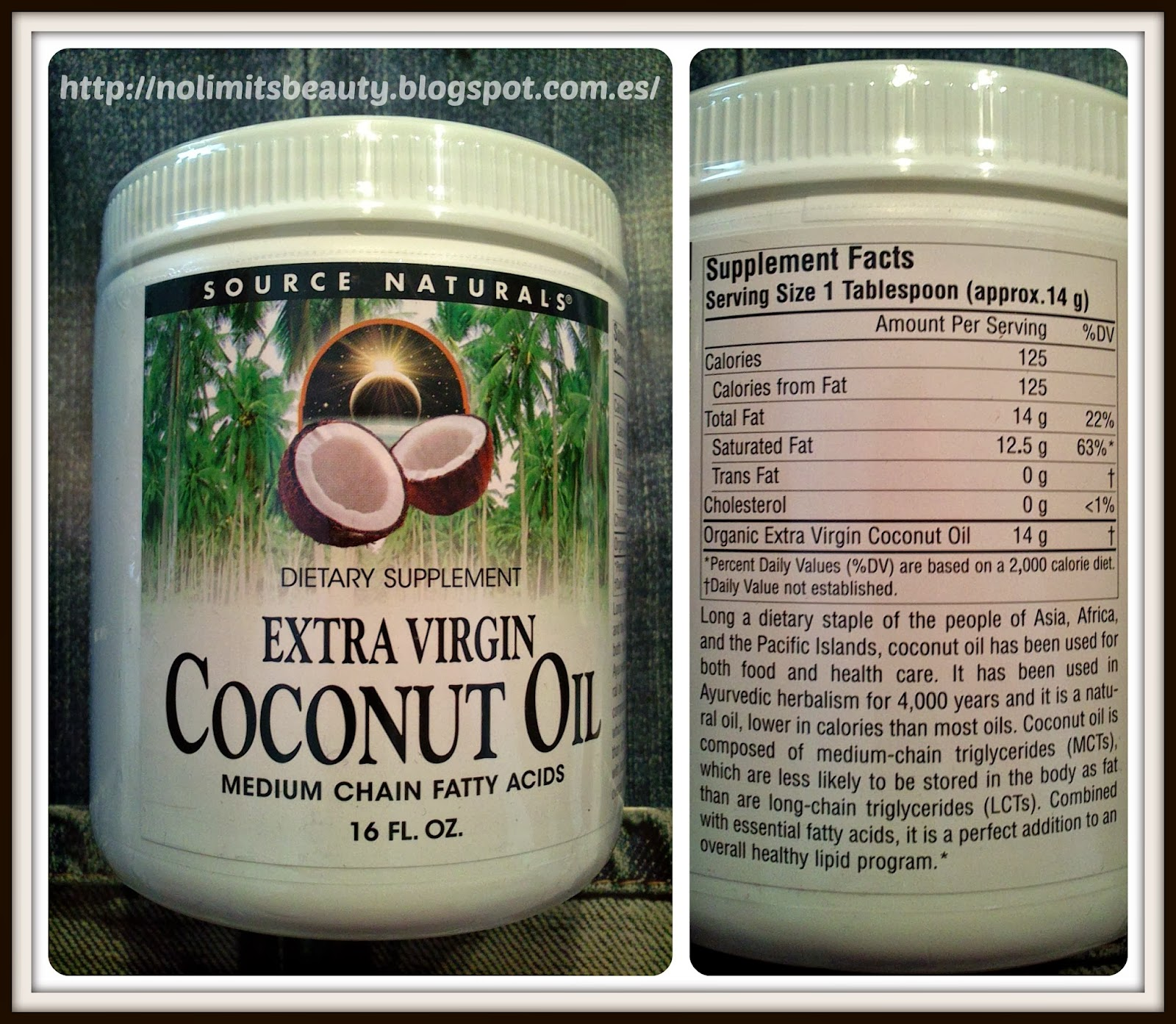iHerb - Extra Virgin Coconut  Oil de Source Naturals
