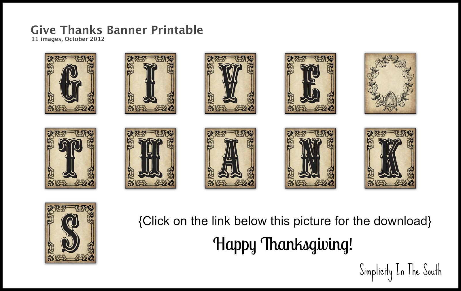 It is a picture of Impertinent Give Thanks Banner Printable