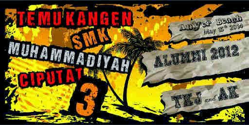 banner tour reuni SMK MUHAMMADIYAH 3 TANGSEL