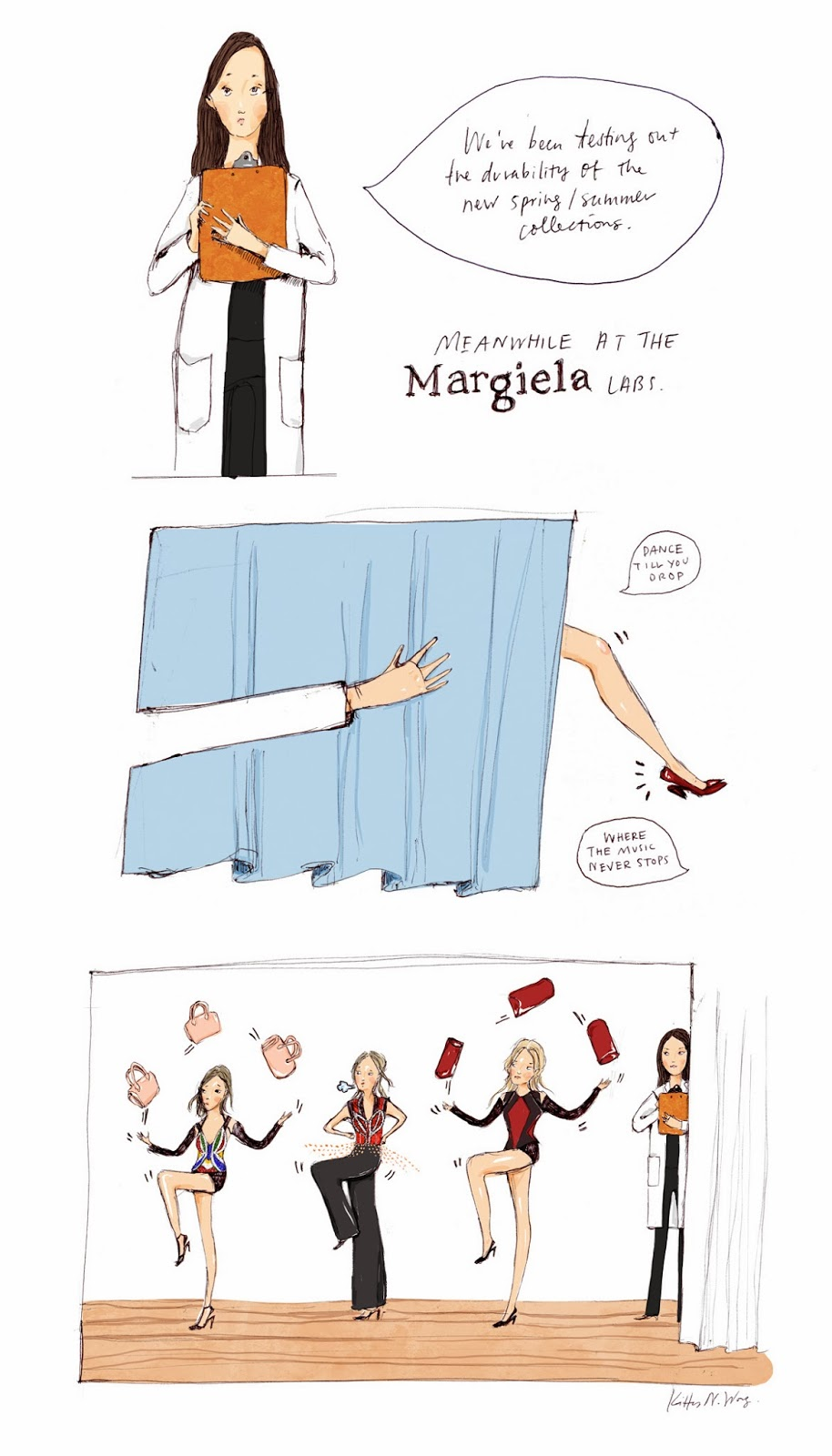 Kitty N. Wong / Martin Margiela fashion laboratory comic