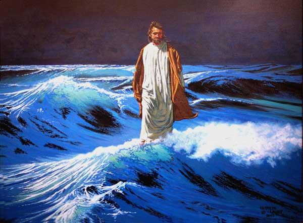 pictures of jesus walking on water. Jesus Walks On Water