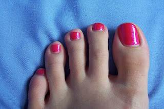 Toes with polish