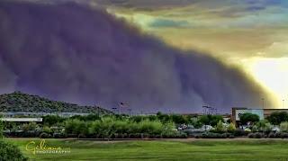 Timelapse ribut pasir Arizona 18 Julai 2011