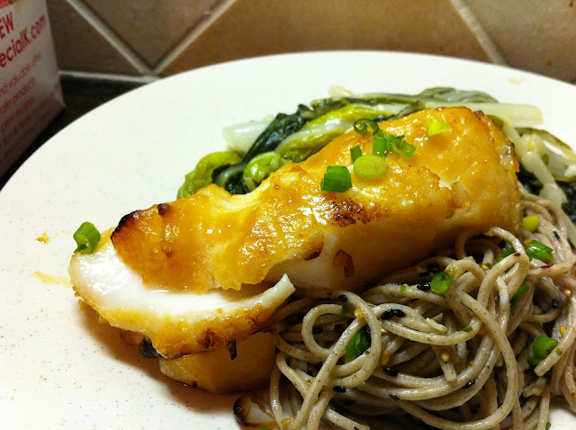 Reckless abandon miso glazed sea bass for Miso sauce for fish