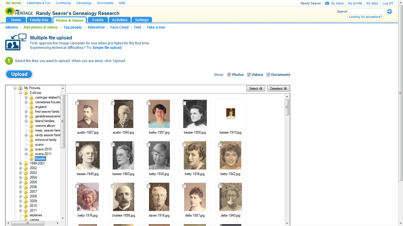 Now I need to tag my photos and attach them to persons in my MyHeritage