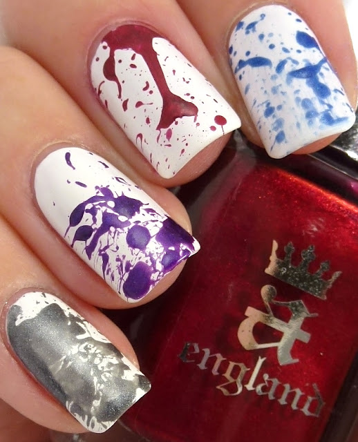 Splatter Mani, a-england - King Arthur, Avalon, Perceval, Order of the Garter, Essie - Trophy Wife
