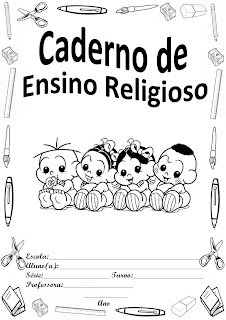 capa para caderno turma da monica ensino religioso