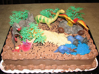 Dinosaurs Birthday Cake Decoration