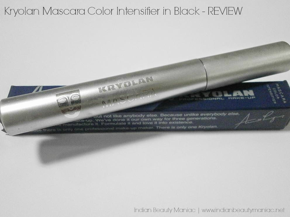 Kryolan Color Intensifier Mascara in Black Review, Swatch and EOTD