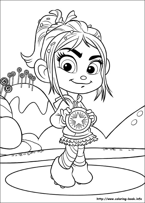 Disney Wreck-It Ralph Coloring Pages