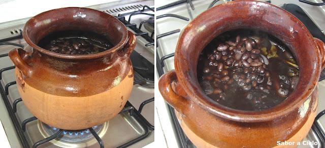 Sabor a cielo frijoles de la olla for Hoya para cocinar
