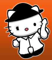 Hello Kitty in Clockwork Orange costume