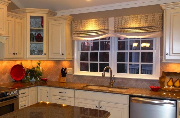 Kitchen Window Curtain Ideas For Luxury Kitchen