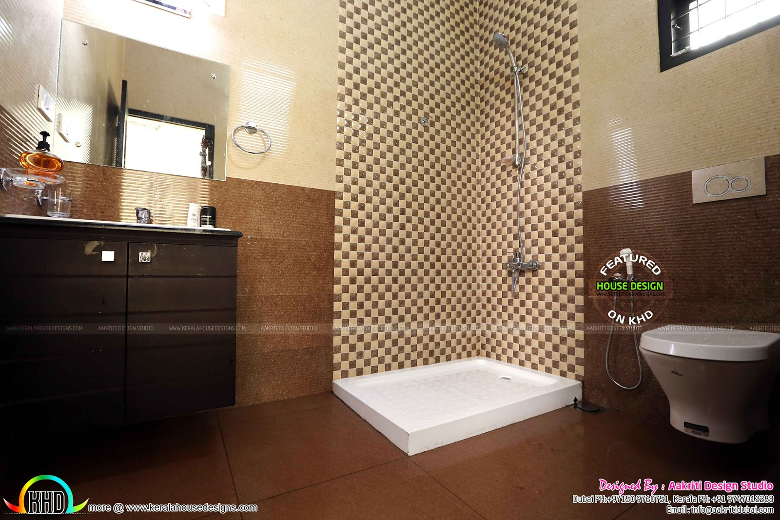 Finished villa at kolencheri ernakulam kerala home for Bathroom interior design in kerala