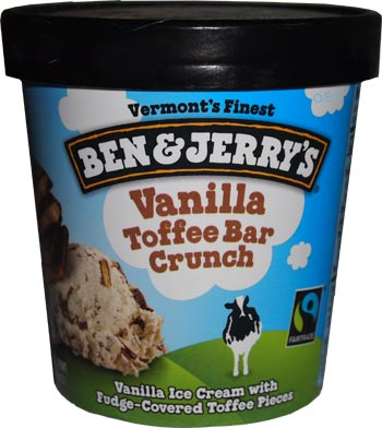 Ice Cream Reviews: Ben & Jerry's Vanilla Toffee Bar Crunch Ice Cream ...