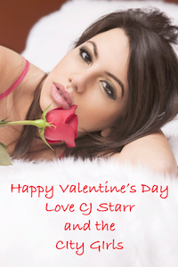 Happy Valentines Day from CJ Starr and the City Girls, free quickie read, exclusively from CJ Starr.net