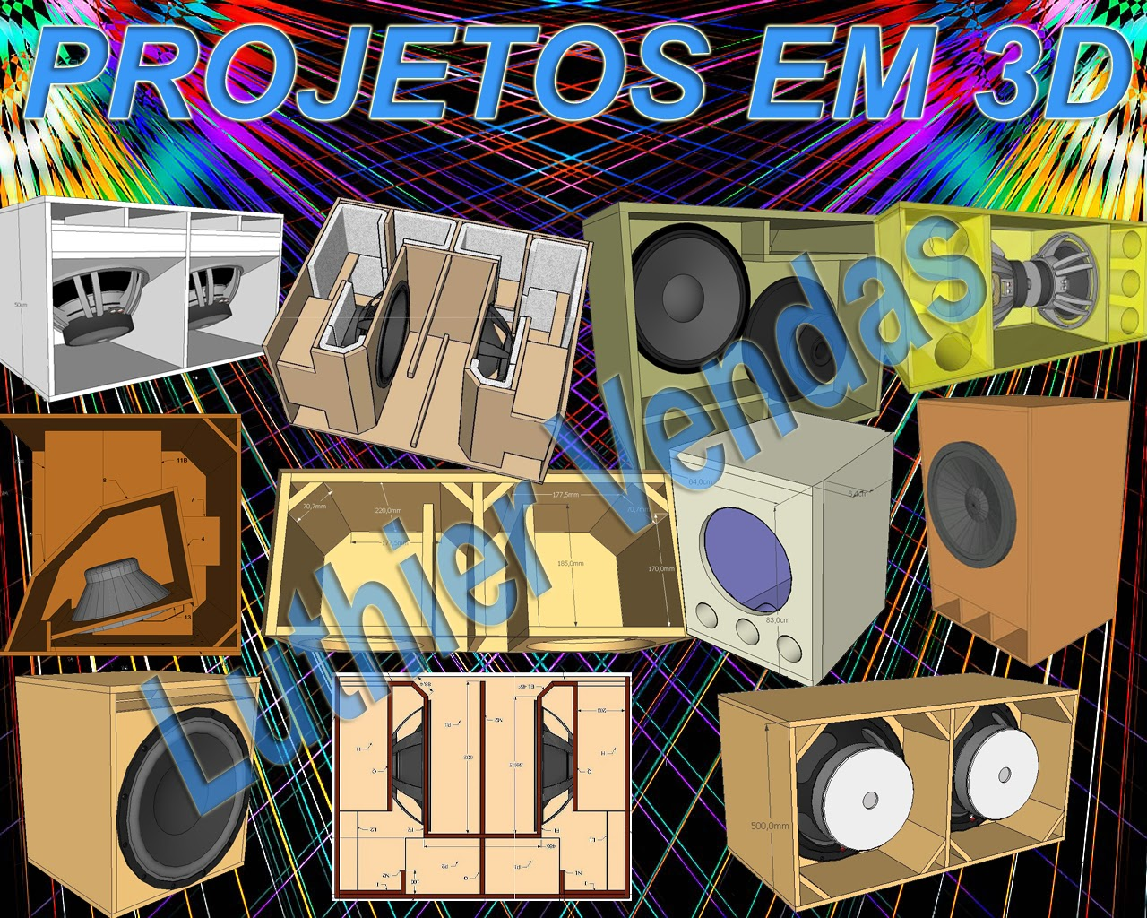 Projetos de caixas Graves subgraves e line array