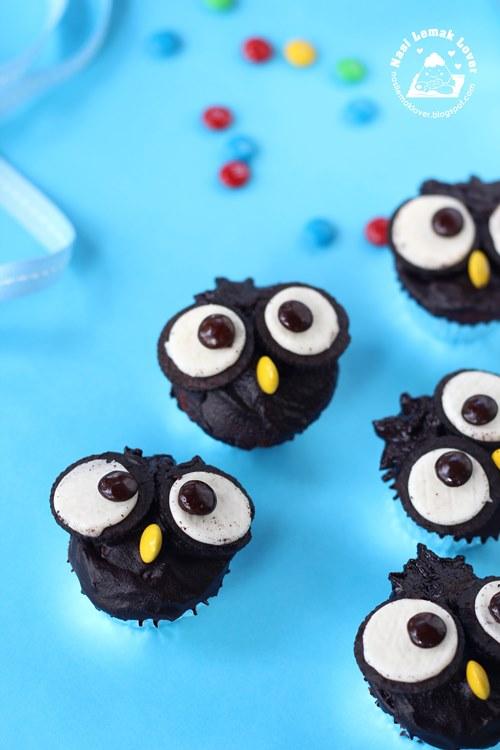Nasi Lemak Lover Oreo Owl Cupcakes