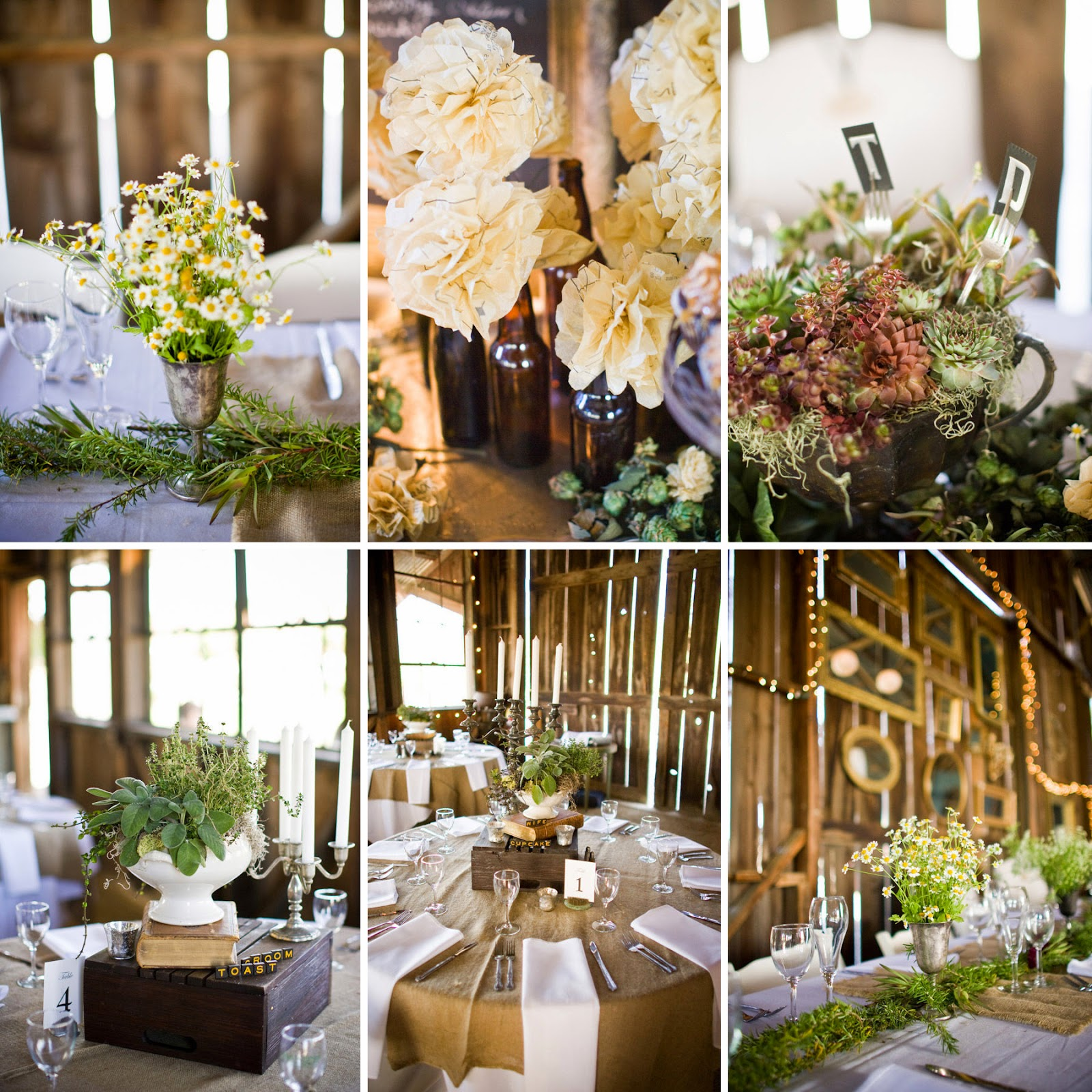 Bling brides country weddings yee haw centerpieces