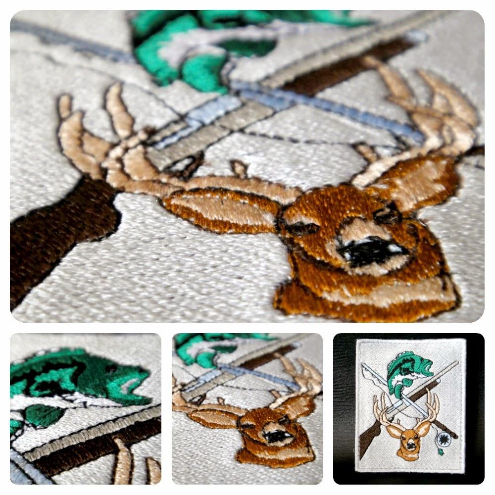 Нашивка на рукав - подарок охотнику, подарок рыбаку, подарок мужчине