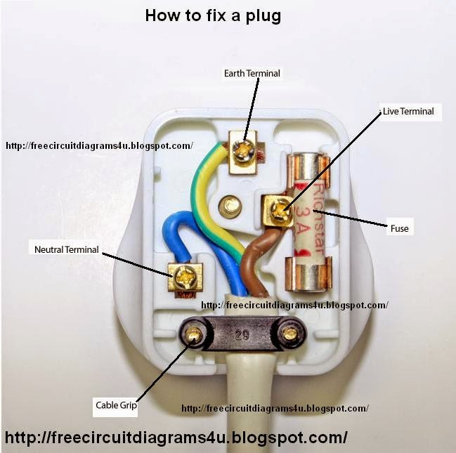 Free Circuit Diagrams 4u  How To Fix A Plug
