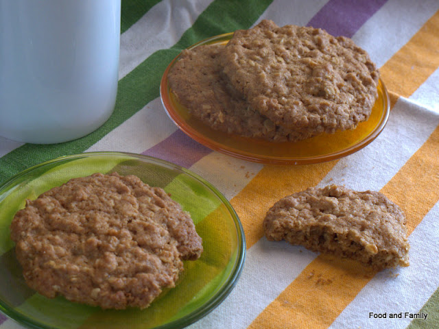 Ginger and oat biscuits