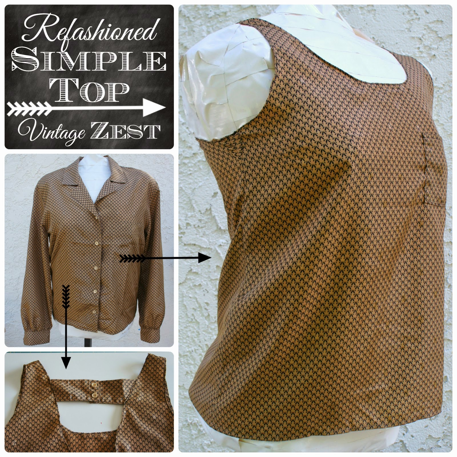 refashioned blouse