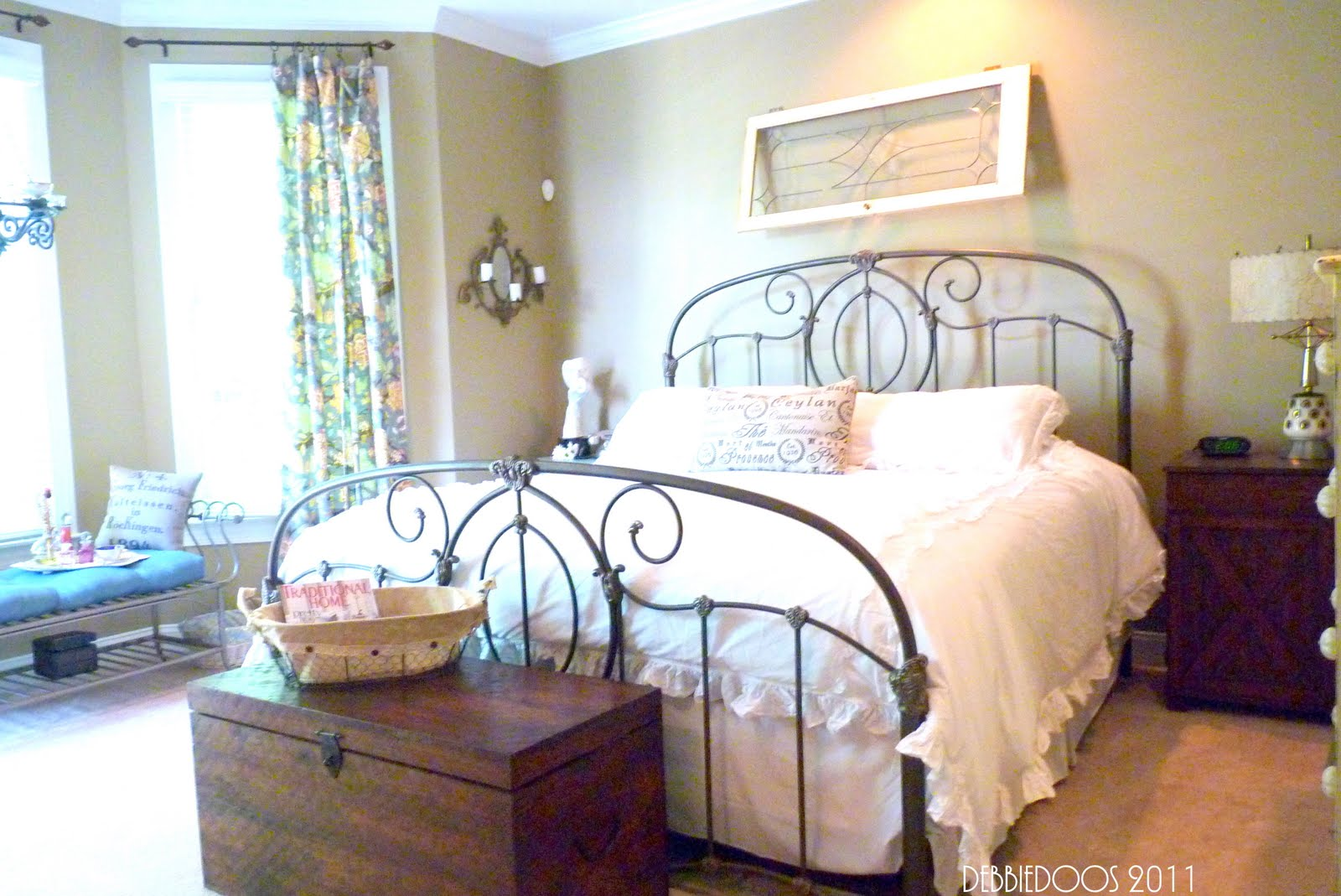shabby chic eclectic style master bedroom office debbiedoos