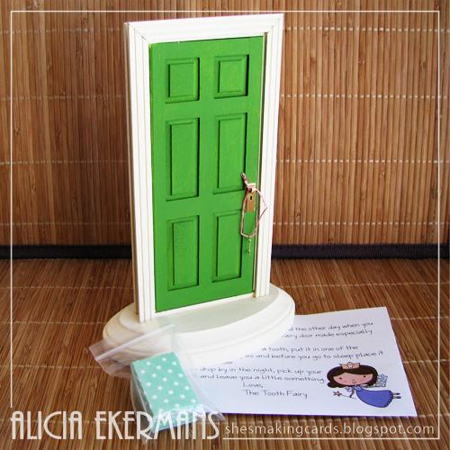 She 39 s making cards pin spired tooth fairy door for Elf door ideas