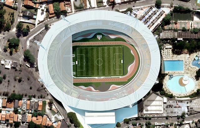 Arena e nova cobertura do Morumbi